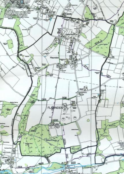 Map of Flaunden Footpaths and Bridleways