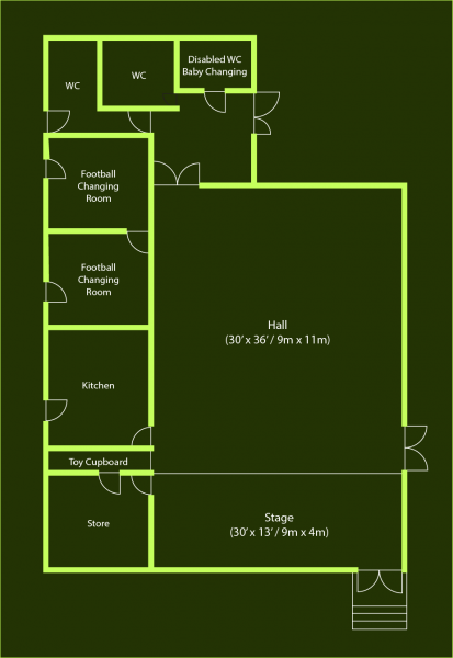 Village Hall Floor Plan