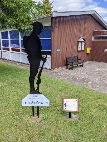 Tommy silhouette at Flaunden Village Hall